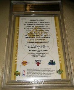 00-01 Sp Authentic Michael Jordan Kobe Bryant Garnett Autograph Auto /25 Bgs 9.5