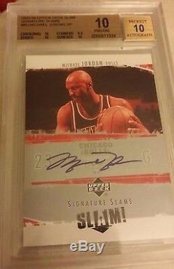 05-06 Upper Deck Slam Signature Slams Autograph Michael Jordan Sp Bgs 10 Auto 10