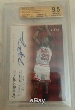 06 Fleer Autographics Michael Jordan #23 Chicago Bulls Autograph Bgs 9.5 Auto 10