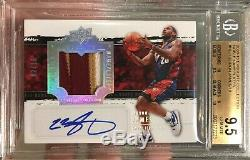 09-10 Exquisite LeBron James Noble Nameplates Auto Patch 02/18 BGS 9.5/10