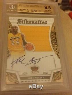 13 Panini Preferred Silhouettes Autograph Patch /35 Kobe Bryant Bgs 9.5 Auto 10