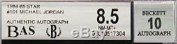 1984-85 Michael Jordan Star #101 RC Rookie Auto BAS BGS 8.5 / 10