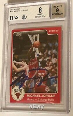 1984-85 Michael Jordan Star #101 Rookie Autographed Bgs Nm/mint Auto=9