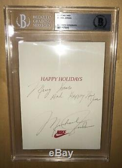 1985 Nike Exclusive Michael Jordan Autographed Auto BGS 1/1 Personal Card