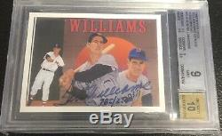 1992 Upper Deck Ted Williams Heroes Autographs Auto 785/2500 BGS 9 Mint 10 Auto