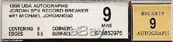 1996 Michael Jordan Upper Deck SPX Record Breaker UDA Auto /250 BGS 9 / 9