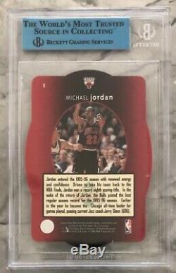 1996 SPX GOLD MICHAEL JORDAN HOLOVIEW Autograph BGS JSA Certified Auto Ebay 1/1