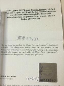 1996 SPX Record Breaker Michael Jordan Auto Autograph BGS 8.5 #/250