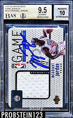 1997-98 UD Game Jerseys Michael Jordan BGS 9.5 with 10 AUTO UDA POP 1 NONE HIGHER