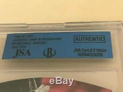 1997 Uda Michael Jordan Camp Die Cut #3 Autograph Bgs Jsa Auto Hof Bulls
