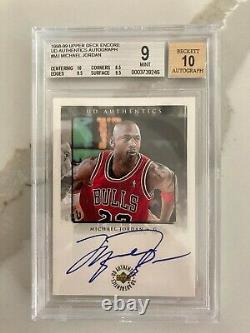 1998-99 Michael Jordan Upper Deck Encore Auto UD Authentics #MJ BGS 10 Autograph