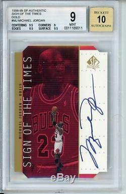 1998/99 SP Authentic Michael Jordan Sign of the Times Auto Autograph BGS 9 / 10