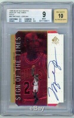 1998/99 SP Authentic Sign of the Times Michael Jordan Autograph BGS 9 Auto 10