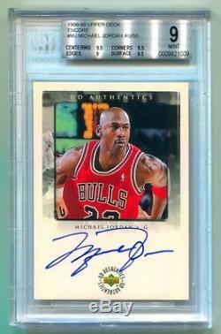 1998-99 Upper Deck Encore Michael Jordan Autograph Auto /50 Bgs 9 Mint