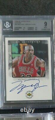 1998/99 Upper Deck Encore Michael Jordan Autograph! Rare MJ 90s Auto! BGS 9