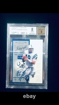 1998 Playoff Contenders Ticket Peyton Manning RC AUTO Rare Auto BGS 9 L@@k