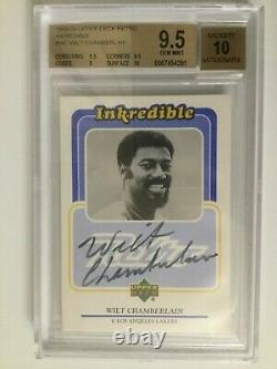 1999-00 UD Retro Inkredible Wilt Chamberlain Autograph GEM BGS 9.5 10 AUTO
