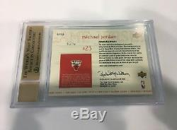 1999-00 UPPER DECK MICHAEL JORDAN 18/23 AUTO GAME JERSEY BGS 9.5 with10 AUTOGRAPH