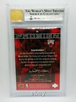 1999/00 Upper Deck MVP Pro Sign Michael Jordan Autograph 11/23! BGS 8.5 90s Auto