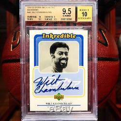1999-00 Upper Deck Retro Wilt Chamberlain Inkredible Auto Autograph BGS 9.5