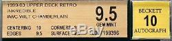 1999-00 Wilt Chamberlain Upper Deck Retro Incredible Auto BGS 9.5 Gem Mint