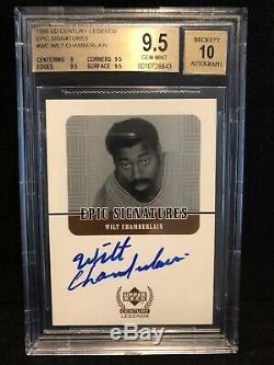 1999 UD Century Legends Wilt Chamberlain Epic Signatures Auto Autograph BGS 9.5