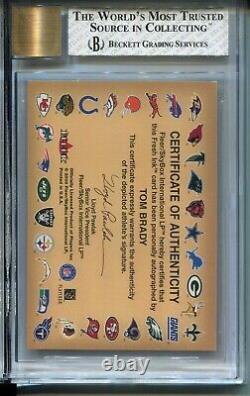 2000 Fleer Autographics Tom Brady Rookie Card RC Graded BGS Nr MINT Auto 10