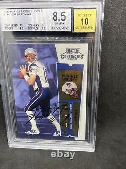 2000 Playoff Contenders Tom Brady RC AUTO BGS 8.5 With10 Centering! 9.5 Surface