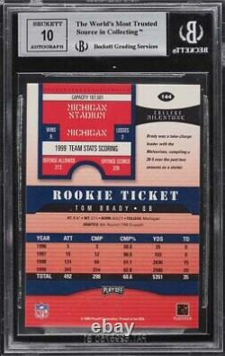 2000 Playoff Contenders Tom Brady ROOKIE RC AUTO #144 BGS 9 MINT