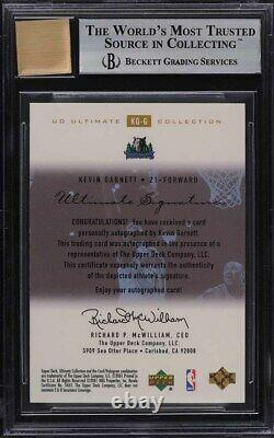 2000 Ultimate Collection Signatures Gold Kevin Garnett AUTO /25 BGS 9