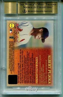 2001 Bowman Baseball Autographs Albert Pujols Rookie Card RC BGS 9.5 AUTO 10