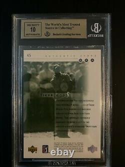 2001 SP Authentic Tiger Woods ROOKIE RC AUTO 79/900 #45 BGS 9.5 Autograph 10