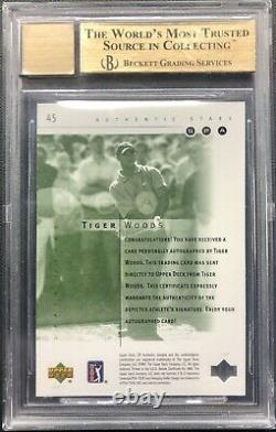 2001 Sp Authentic Golf Tiger Woods Rookie Auto Bgs 9.5 With 10 Autograph