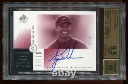 2001 Sp Authentic Tiger Woods Sott Red Tw4 Auto # 57/66 Bgs 9.5/10 2 Bgs 10 Subs