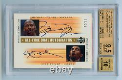 2002-03 Ud Generations Autograph Auto Michael Jordan Kobe Bryant /25 Bgs 9.5 10