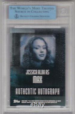 2002 Topps Dark Angel Max Jessica Alba Auto Autograph SP RARE BGS CASE