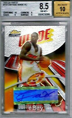 2003-04 Dwayne Wade Topps Finest Chrome #158 RC Auto /999 BGS 8.5 (10,9,8,9)
