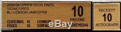 2003-04 Lebron James Upper Deck Finite Signatures RC Rookie SP Auto BGS 10 Pop4