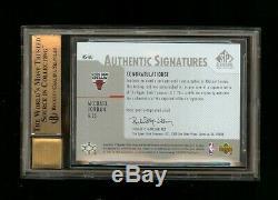 2003-04 Michael Jordan SP Authentic Signatures Auto BGS 10/10 Pristine