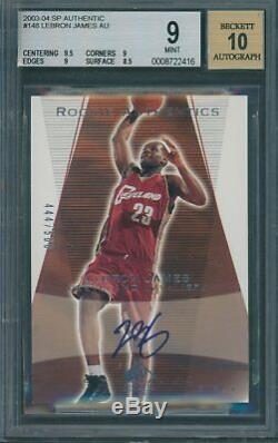 2003/04 SP Authentic #148 LeBron James Autograph BGS MINT 9, Auto 10 #444/500