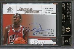 2003-04 SP Authentic Signature Michael Jordan Auto BGS 10/10 Black Label