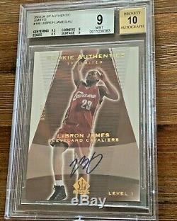 2003-04 Sp Authentic Limited Gold Lebron James Rc Auto Bgs 9 Mint 10 Autograph