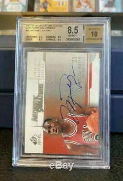 2003-04 Sp Signature Edition Michael Jordan On-card Auto #as-mj Bgs 8.5/10