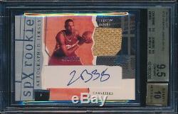2003-04 Ud Spx Lebron James Rookie Jersey Auto Autograph /750 Bgs 9.5 Quad
