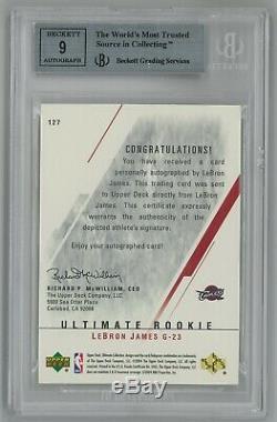 2003-04 Ultimate Collection LeBron James #/250 RC AUTO AUTOGRAPH BGS 8.5
