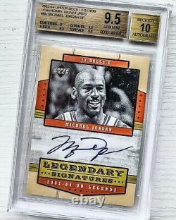 2003-04 Upper Deck Legends Legendary Signatures Michael Jordan AUTO BGS 9.5
