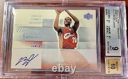 2003-04 Upper Deck UD Ultimate LeBron James RC Rookie BGS 9 MINT with 10 AUTO