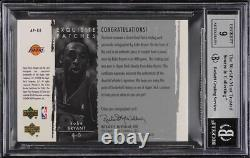 2003 Exquisite Collection Kobe Bryant PATCH AUTO /100 #KB BGS 9 MINT