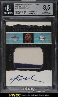 2003 Exquisite Collection Limited Logos Kobe Bryant PATCH AUTO /75 BGS 8.5