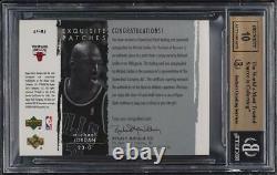 2003 Exquisite Collection Michael Jordan AUTO PATCH /100 #MJ BGS 9.5 GEM